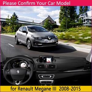 Image 2 - ل رينو ميجان 3 III MK3 2008 2009 2010 2011 2012 2013 2014 2015 كوبيه CC GT المضادة للانزلاق حصيرة لوحة ظلة الملحقات