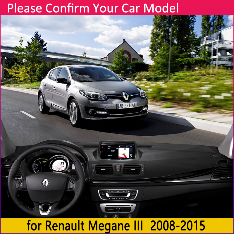 Image 2 - for Renault Megane 3 III MK3 2008 2009 2010 2011 2012 2013 2014 2015 Coupe CC GT Anti Slip Mat Dashboard Sunshade Accessories-in Car Stickers from Automobiles & Motorcycles