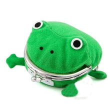 New Women Hot Selling Frog Wallet Anime Cartoon Purse Manga Flannel Wallets Cute Naruto Coin Holders Hasp