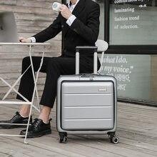 Iş yatılı durumda, uçak bavul, küçük 20 inç açma şifre seyahat bavul, bagaj çantası, tekerlekli çanta, unisex