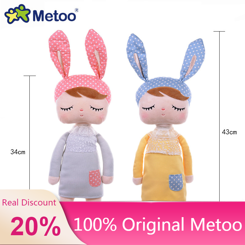 100% Original 43cm Genuine Metoo Doll Stuffed Plush Animals Kids Toy For Girl Children Kawaii Baby Angela Rabbit Soft Lols Dolls