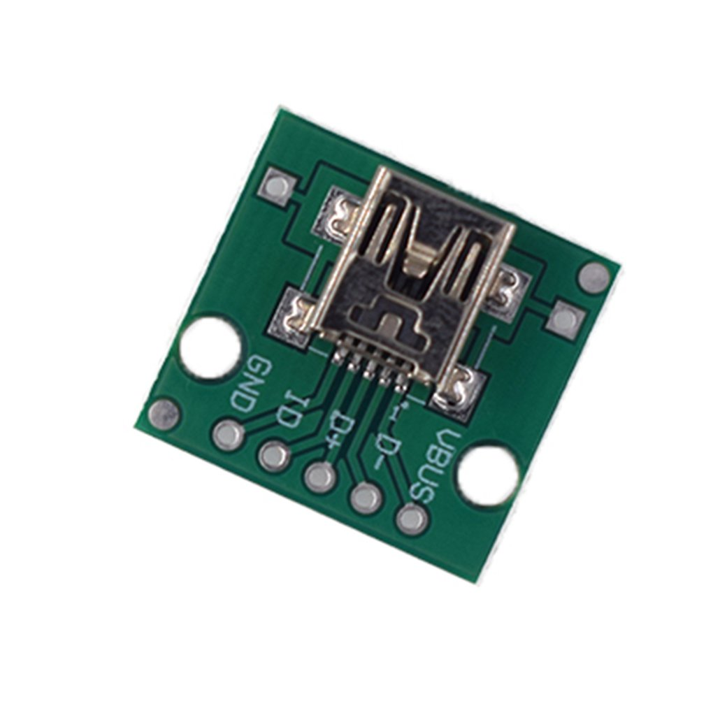 Professional Module Adapter Board Usb To Dip Female Socket Mini-5p Patch To 2.54mm Straight Soldered Adapter Board