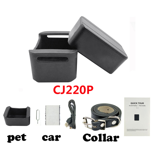 Dogs Pet Mini GPS Tracker Kids Personal Locator Anti-Lost Tracking Device Voice Monitor GSM GPRS Online Free Website APP 2