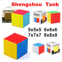 Shengshou Tank 5x5 6x6 7x7 8x8 Magico cube 5x5x5 6x6x6 Speed Cubo 7x7x7 8x8x8 magic puzzle Children adults Cubes
