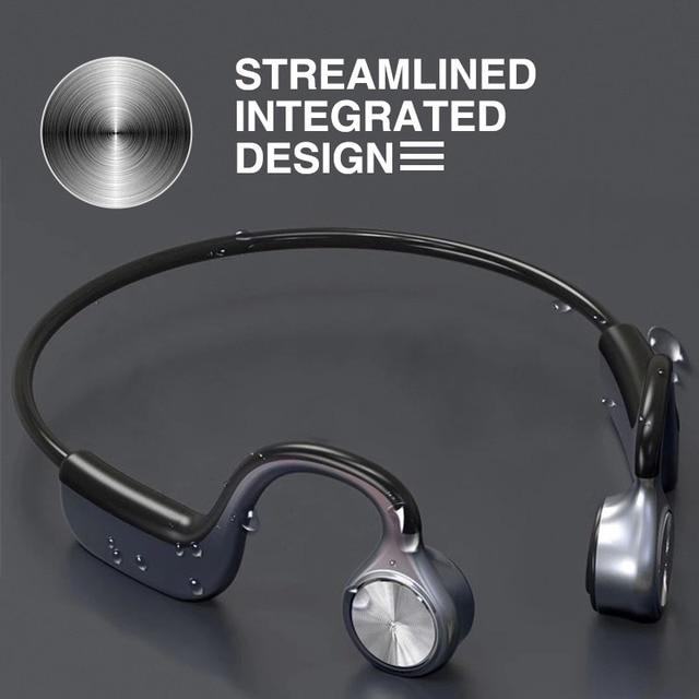 Original Wireless Headphones Bone Conduction Bluetooth BT 5.0 Earphone Binaural Stereo Noise Reduction HD Sound Quality Earphone