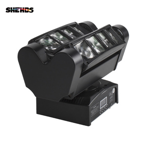 Image 2 - משלוח מהיר מיני LED קרן עכביש 8x10W RGBW הזזת ראש תאורת LED שלב אור טוב למסיבות DJ דיסקו חתונה קישוט