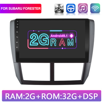 9 2G+32G Android 9.1 Car Radio Multimedia Video Player For Subaru Forester 2008-2012 Car Auto Stereo Navigation GPS WIFI image
