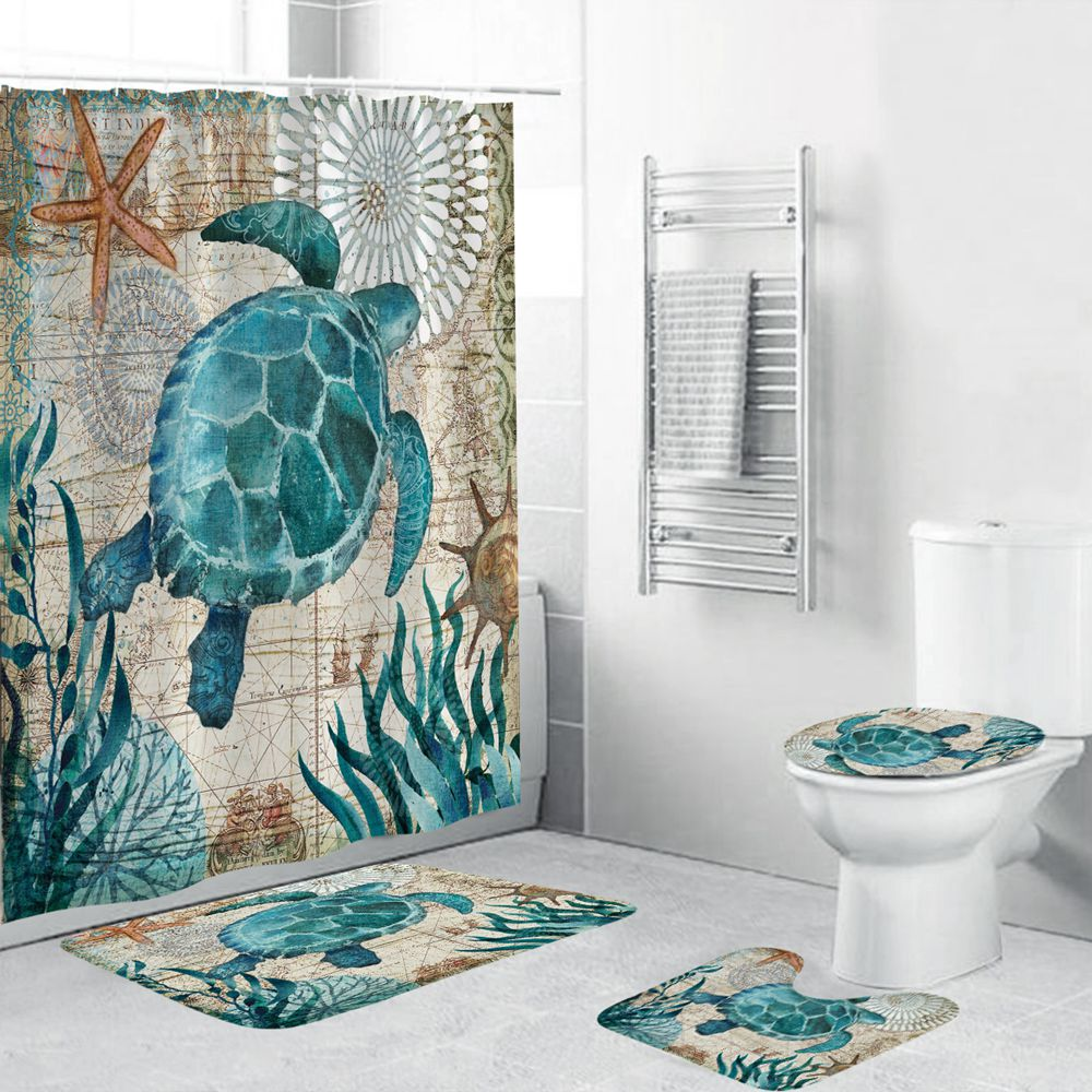 Shower Curtain Sea Turtle