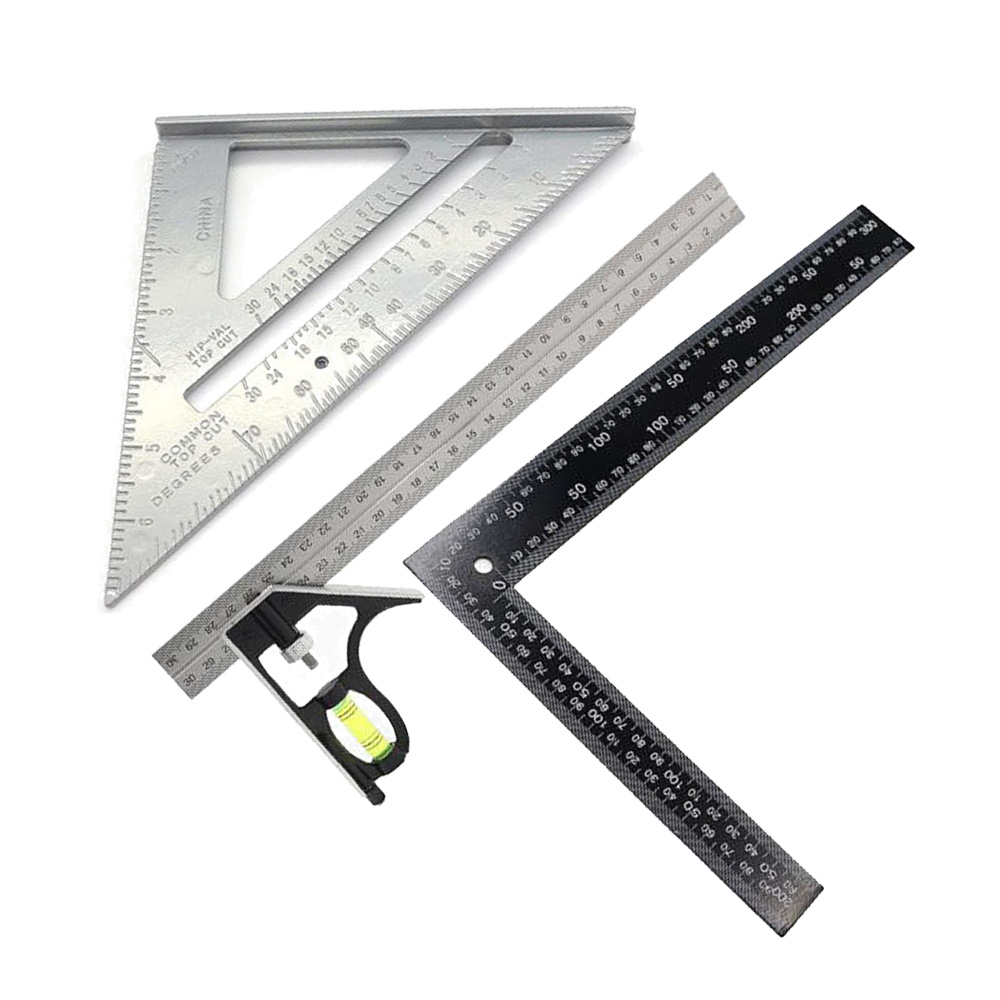 Multifunctional Angle Ruler Small Base Aluminum Triangle Rafter Measuring Tool Measurement And Analysis Instruments
