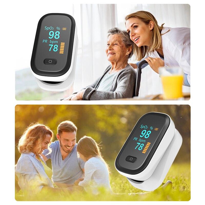 Пульсоксиметр spo2 PR на палец, портативный измеритель пульса и уровня кислорода в крови, с OLED-экраном пульсоксиметр на палец оксиметр пульсометр пульоксиметр сатуратор пульсаксиметр пульсикометр измеритель кислорода 2