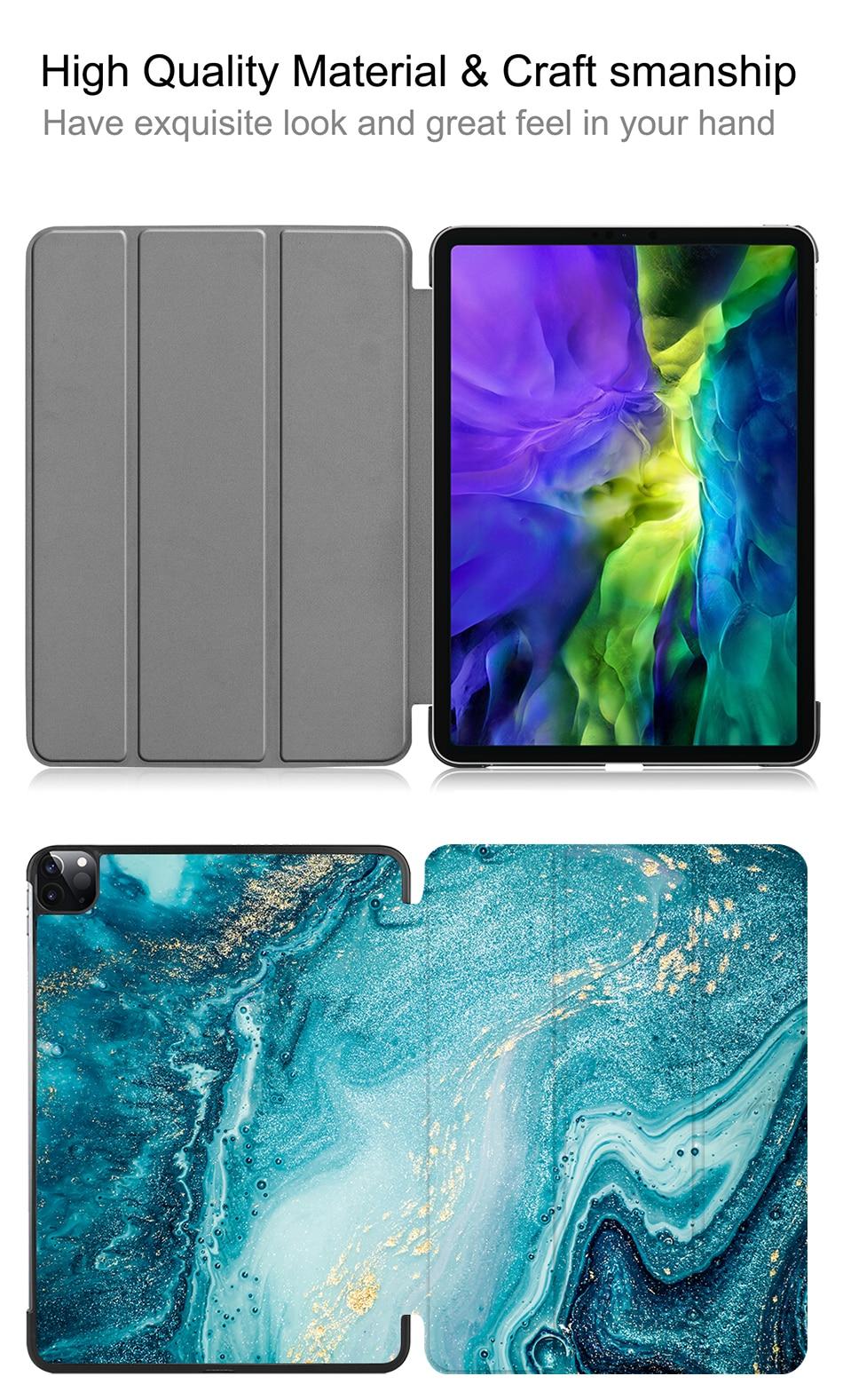For Smart Case iPad Pro funda Leather 2nd 11 PU 2020 Flip Tablet Stand Generation MTT