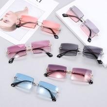 Viajar estilo moda sem aro montanhismo óculos de sol na moda pequeno retângulo óculos de sol uv400 tons para homens