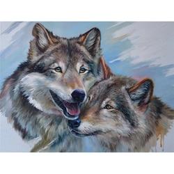 5D Diamond Painting Animal Wolf Diamond Embroidery Children Hobby and Handicraft Full Round Drill Display Rhinestones Pictures