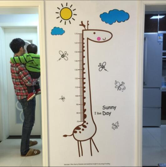 Children's Room Bedroom Giraffe Height Measurement Height Sticker Removable Decorative Wall Stickere Wall Stickers Stickers
