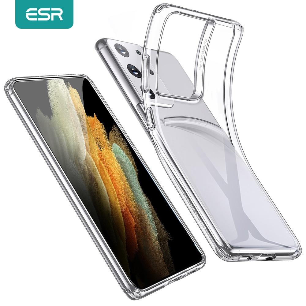 ESR przezroczysty futerał do Samsung Galaxy S21 S21 Plus S21 Ultra przezroczysty miękki TPU silikonowy futerał do Galaxy S21 + projekt Zero przypadkach