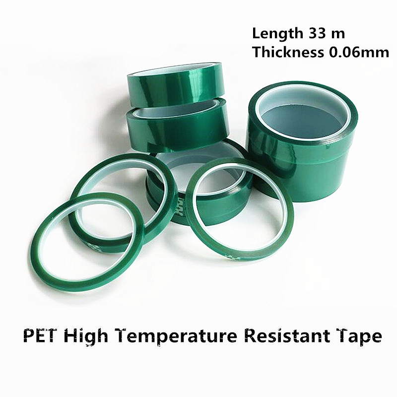1 Roll Of 33 Meters PET High Temperature Insulation Tape Electroplating PCB SMT Solde Plating Protective No Trace Tape