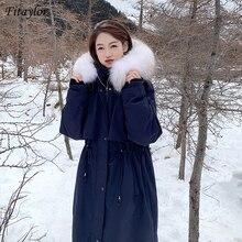 Fitaylor 2020 New Winter Women Large Natural Fox Fur Collar