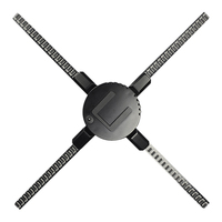 Precio 50CM 4 ventilador holograma ventilador luz con Control Wifi holograma 3D pantalla publicitaria LED ventilador holográfico