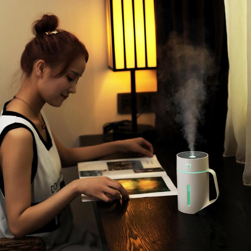 420ml Timing Aroma Essential Oil Diffuser Unique Ultrasonic Air Humidifier Cup With LED Necessary Home Air Treatment Gadgets