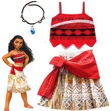 2020 Girls Moana Cosplay Costume for Kids Vaiana Princess Dr