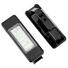 2 uds 18 LED cuentas de lámpara de luz LED para Citroen C2 C3 C4 C5 C6 DS3 para PEUGEOT 106, 207, 307, 308, 406, 407, 508, 1007, 3008
