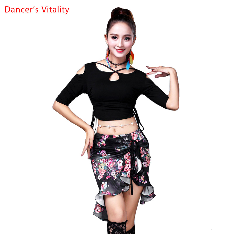 Adult Belly Dance Costume Oriental Suit Set T Shirt Top Skirt For Women Oriental Bellydance Belly Dance Clothes Indian Clothes