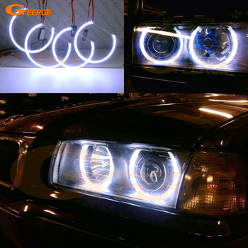 For BMW E36 3 Series with Euro headlights 1992-1998 Excellent Ultra bright COB led angel eyes kit halo rings image