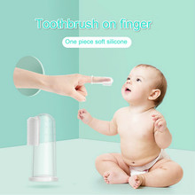 Baby finger toothbrush silicon toothbrush + box child teeth cleaning soft silicone baby toothbrush rubber cleaning baby brush