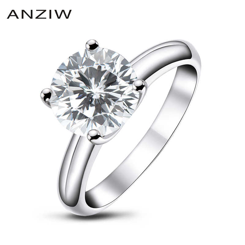 AINUOSHI 925 Sterling Silber 2,65 ct Runde Cut Engagement Ring für Frauen Sona Simulierte Diamant Jahrestag Solitaire Ring