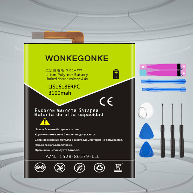 WONKEGONKE LIS1618ERPC cell phone <font><b>battery</b></font> for SONY <font><b>Xperia</b></font> <font><b>XA</b></font> (F3111) E5 F3313 F3112 F3116 F3115 F3311 <font><b>battery</b></font> image
