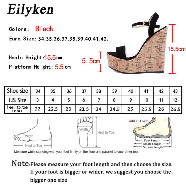 Platform Wedges Ankle Strap Open Toe Women Sandals 2020