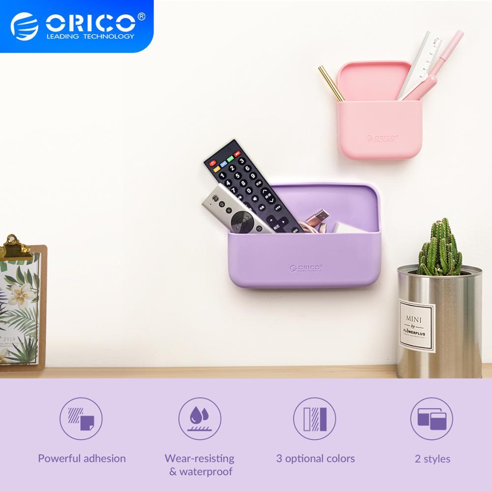 Настенный силиконовый ящик для хранения ORICO, кухонный держатель, аксессуары для ванной и душа, органайзер для спальни, держатель для хранения|Аксессуары для наушников|   | АлиЭкспресс