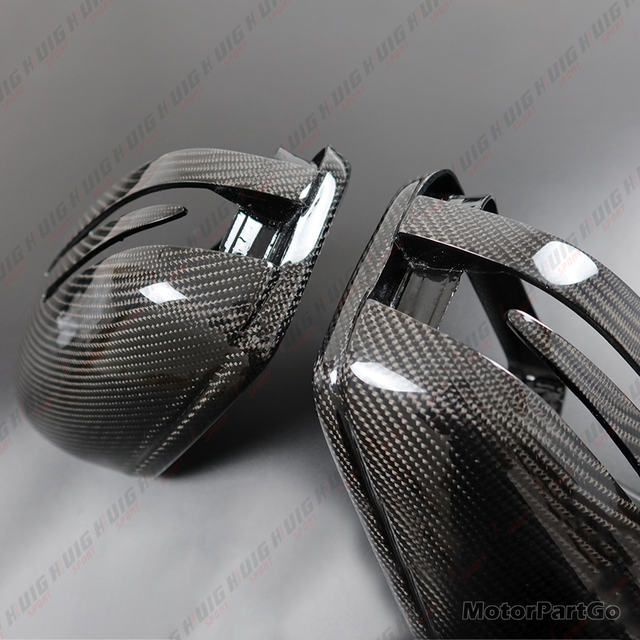 Real Crabon Fiber Mirror Cover Exchange original 1 pair for Mercedes Benz ML Class W166 GL GLS X166 GLE W166 5