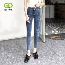 цена на GOPLUS High Waist Women Jeans Large Size Skinny Jeans Woman Denim Jeans Femme Pencil Pants Vaqueros Mujer Jeansy Damskie C9573