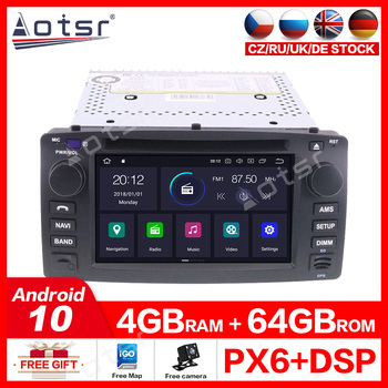 Android 10.0 2 din stereo Auto receiver For Toyota Corolla EX Car radio GPS Navigation Car DVD Player Autoradio 2001-2006 IPS image