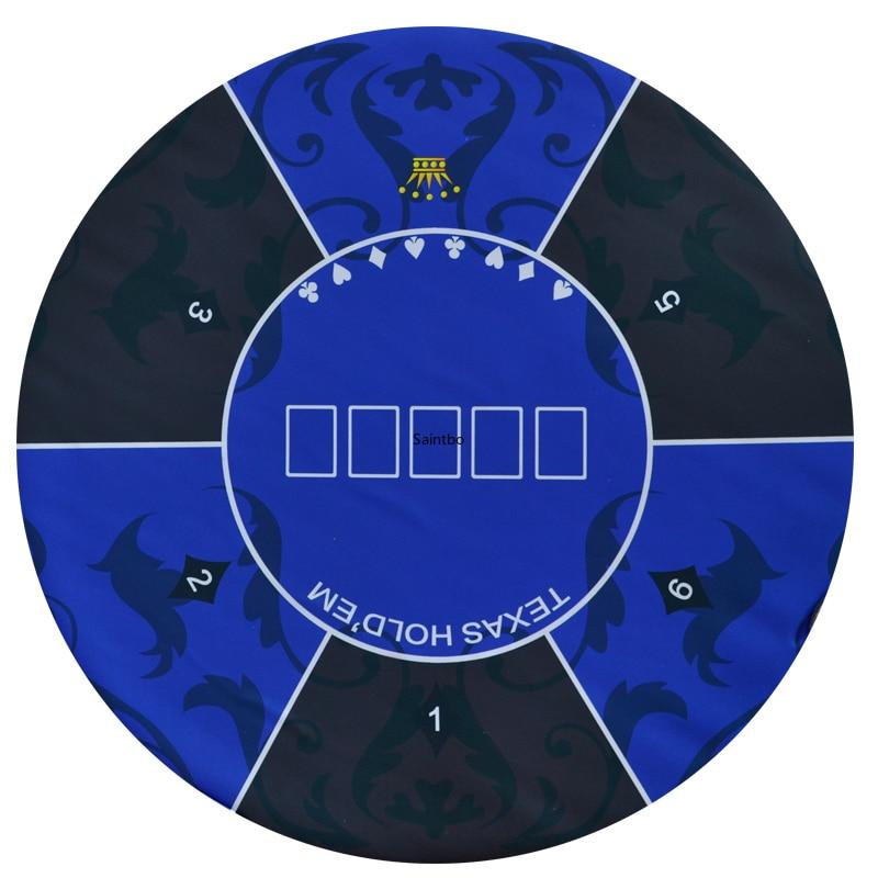 1.2*0.6m 1.8*0.9m 2.4*1.2m et rond D1.2m Texas Poker en caoutchouc coussin nappe Baccarat dés tapis accueil jeu Table Pad