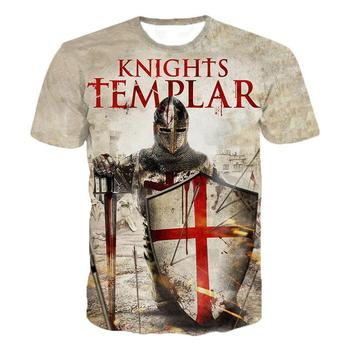Knights Templar 3D Printed O-Neck T-shirt Men's Fashion Casual Short Sleeve T-shirt Knights Templar Streetwear Harajuku Tee Tops слипоны british knights british knights br002amsso60