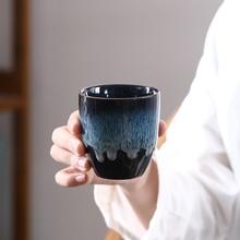 LUWU керамика большого размера чайная чашка синего фарфора кунг-фу, посуда для напитков 170 мл