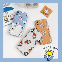 Cartoon cute Peanut Charlie Brown Lucy Dog case For iphone 7 8 Plus soft silicone cover For iphone 11 11pro max XS MAX X XR case