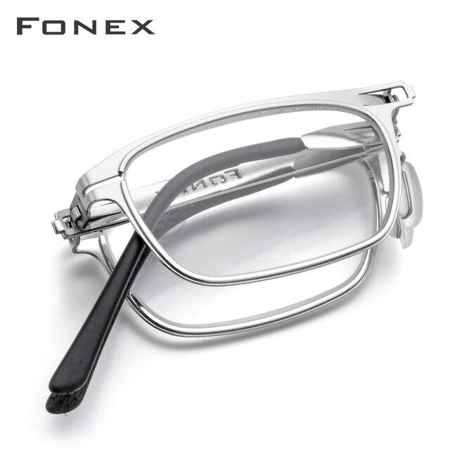 عالية الجودة للطي نظارات للقراءة الرجال النساء طوي الشيخوخي قارئ قصر النظر الديوبتر نظارات بدون مسامير نظارات