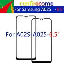 10 قطعة الكثير لسامسونج غالاكسي A02sTouch شاشة الزجاج الأمامي لوحة LCD الخارجي عرض عدسة A025F A025M استبدال