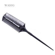 Profesjonalne fryzjerstwo dwustronnie barwnik grzebień z nylonowe włosy suszenie szczotka barwienia grzebienie kolor włosów szczotka narzędzia do stylizacji włosów