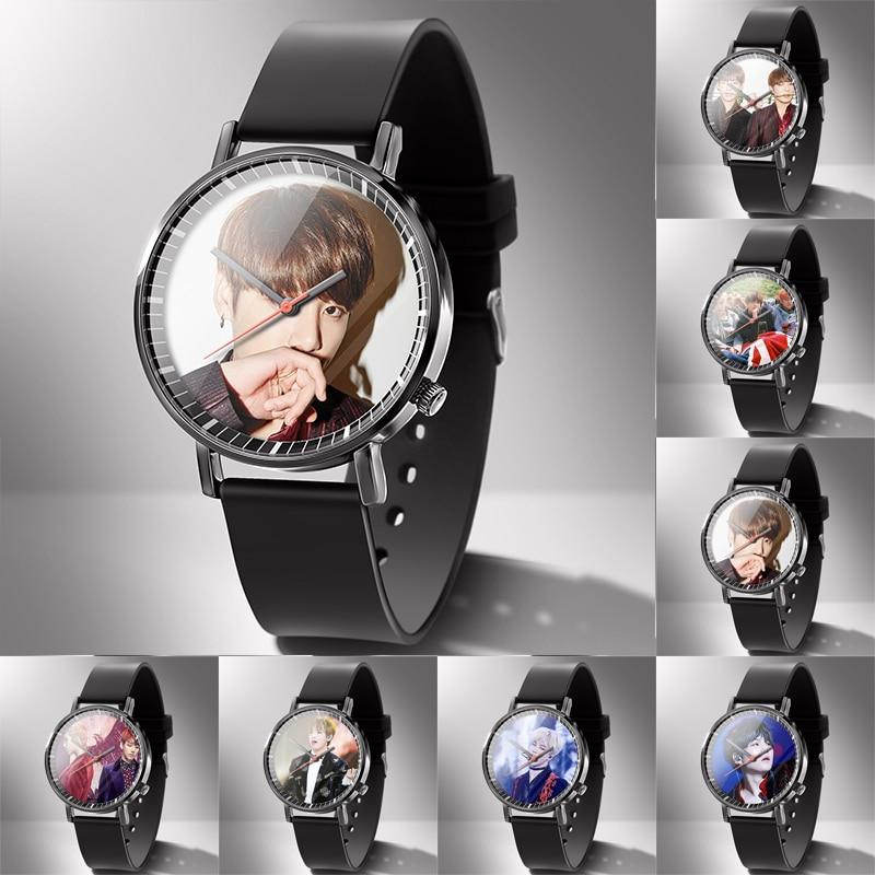 Men Watch Rubber Lovers Watches Diy Can 1 piece Custom You Photo LOGO Picture Clock Machining Hour Drop Shipping Gift family(China)
