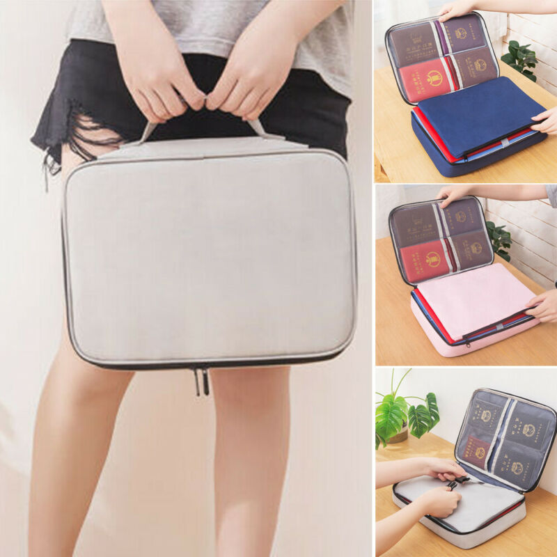 2020 New Arrival Family Travel Passport Document Organizer Holder Pouch Case Large Bag Office Briefcases 3 Colors