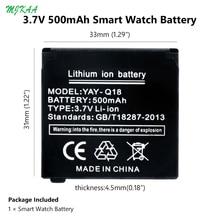 цена на MJKAA Li-Po Lithium Li-polymer Batteries 3.7V 500mAh Rechargeable Li-ion Polymer Battery Spare for Q18 Smart Watch