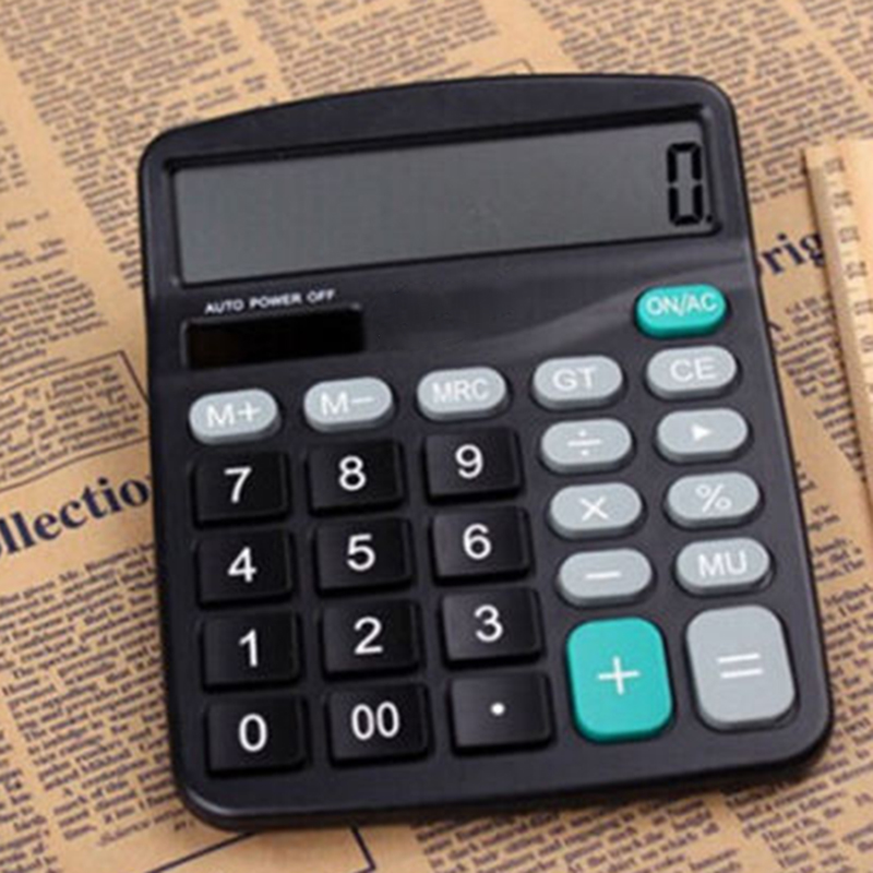 12-Digit Desktop Calculator With Large Screen Display For Office/Home/Financial