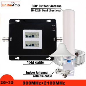 Image 1 - Rosja 2G GSM repeater 900 3G 2100 telefon komórkowy wzmacniacz sygnału komórkowego wzmacniacz GSM WCDMA UMTS 2100 2G sygnału 3G 4G anteny