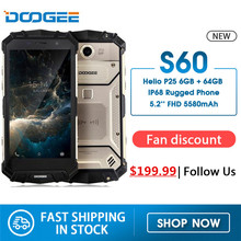 Doogee S60 IP68 Waterproof 4G LTE Mobile Phone 5580mAh 5.2