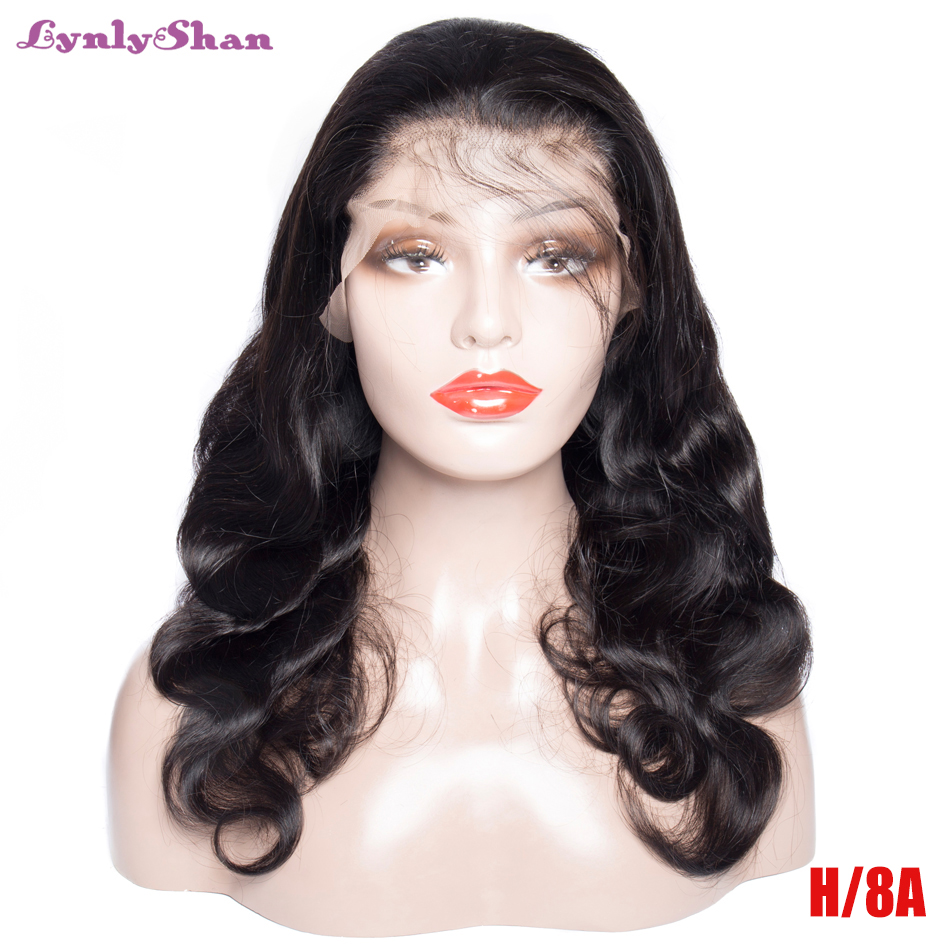 Lynlyshan Lace Front Human Hair Wigs Peruvian Body Wave Remy Hair 12-28 Inch Natural Color 13*4 Lace Front Wigs Free Shipping
