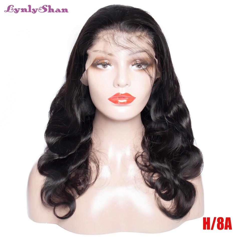 Lynlyshan, парики из натуральных волос на кружеве, перуанские волнистые волосы remy 12 28 дюймов, натуральный цвет, 13*4, парики на кружеве, бесплатная доставка